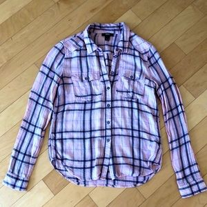 PAIGE pink flannel shirt